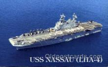 mil100016 - U.S.S. Nassau  Military Aircraft Carrier