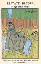 mil201003 - Military Comic Postcard, Old Vintage Antique Post Card