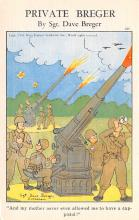 mil201005 - Military Comic Postcard, Old Vintage Antique Post Card