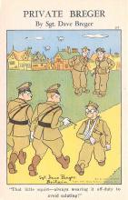 mil201006 - Military Comic Postcard, Old Vintage Antique Post Card