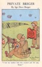 mil201007 - Military Comic Postcard, Old Vintage Antique Post Card