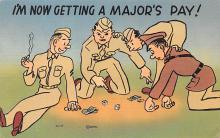 mil201017 - Military Comic Postcard, Old Vintage Antique Post Card