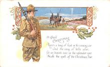 mil201019 - Military Comic Postcard, Old Vintage Antique Post Card