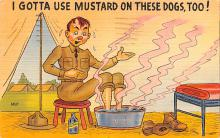 mil201020 - Military Comic Postcard, Old Vintage Antique Post Card