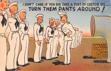 mil201023 - Military Comic Postcard, Old Vintage Antique Post Card