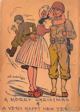 mil201026 - Military Comic Postcard, Old Vintage Antique Post Card