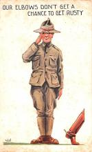 mil201028 - Military Comic Postcard, Old Vintage Antique Post Card