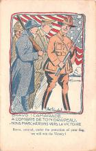 mil201029 - Military Comic Postcard, Old Vintage Antique Post Card
