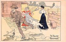 mil201030 - Military Comic Postcard, Old Vintage Antique Post Card