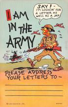 mil201037 - Military Comic Postcard, Old Vintage Antique Post Card