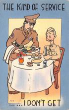 mil201038 - Military Comic Postcard, Old Vintage Antique Post Card