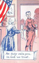 mil201051 - Military Comic Postcard, Old Vintage Antique Post Card