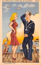 mil201057 - Military Comic Postcard, Old Vintage Antique Post Card