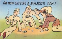 mil201079 - Military Comic Postcard, Old Vintage Antique Post Card