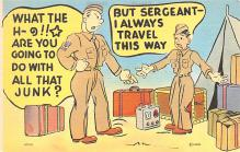 mil201081 - Military Comic Postcard, Old Vintage Antique Post Card