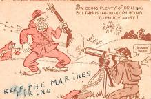 mil201084 - Military Comic Postcard, Old Vintage Antique Post Card