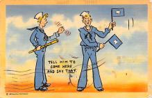 mil201097 - Military Comic Postcard, Old Vintage Antique Post Card