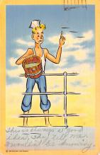 mil201100 - Military Comic Postcard, Old Vintage Antique Post Card