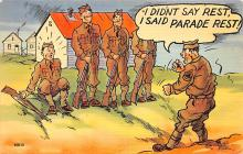 mil201109 - Military Comic Postcard, Old Vintage Antique Post Card