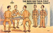 mil201110 - Military Comic Postcard, Old Vintage Antique Post Card