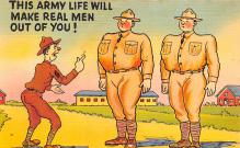 mil201118 - Military Comic Postcard, Old Vintage Antique Post Card