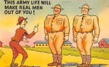 mil201122 - Military Comic Postcard, Old Vintage Antique Post Card