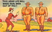 mil201124 - Military Comic Postcard, Old Vintage Antique Post Card