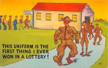 mil201127 - Military Comic Postcard, Old Vintage Antique Post Card