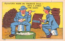 mil201136 - Military Comic Postcard, Old Vintage Antique Post Card