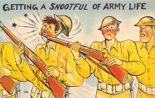 mil201139 - Military Comic Postcard, Old Vintage Antique Post Card
