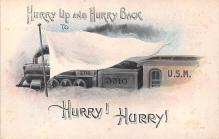 mil201154 - Military Comic Postcard, Old Vintage Antique Post Card