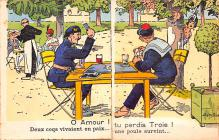 mil201163 - Military Comic Postcard, Old Vintage Antique Post Card