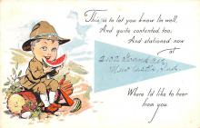 mil201165 - Military Comic Postcard, Old Vintage Antique Post Card