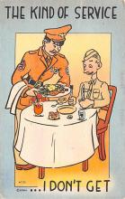 mil201171 - Military Comic Postcard, Old Vintage Antique Post Card