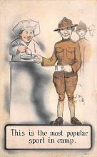 mil201172 - Military Comic Postcard, Old Vintage Antique Post Card