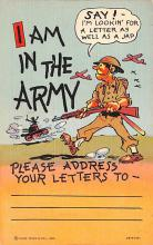 mil201173 - Military Comic Postcard, Old Vintage Antique Post Card