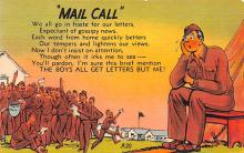 mil201191 - Military Comic Postcard, Old Vintage Antique Post Card