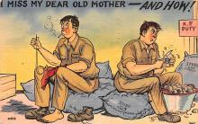 mil201195 - Military Comic Postcard, Old Vintage Antique Post Card