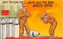 mil201200 - Military Comic Postcard, Old Vintage Antique Post Card