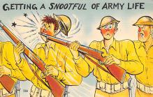 mil201202 - Military Comic Postcard, Old Vintage Antique Post Card