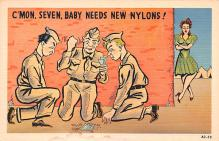 mil201206 - Military Comic Postcard, Old Vintage Antique Post Card