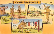 mil201208 - Military Comic Postcard, Old Vintage Antique Post Card