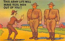 mil201212 - Military Comic Postcard, Old Vintage Antique Post Card
