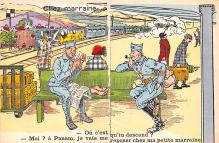 mil201215 - Military Comic Postcard, Old Vintage Antique Post Card