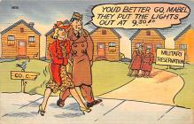 mil201219 - Military Comic Postcard, Old Vintage Antique Post Card