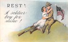 mil201227 - Military Comic Postcard, Old Vintage Antique Post Card