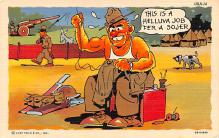 mil201250 - Military Comic Postcard, Old Vintage Antique Post Card