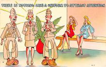 mil201253 - Military Comic Postcard, Old Vintage Antique Post Card