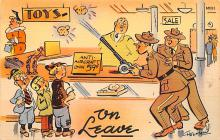mil201258 - Military Comic Postcard, Old Vintage Antique Post Card