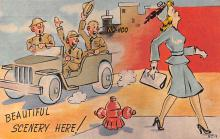 mil201262 - Military Comic Postcard, Old Vintage Antique Post Card
